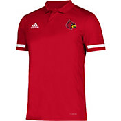 adidas Men's Louisville Cardinals Cardinal Red Team 19 Sideline Football Polo