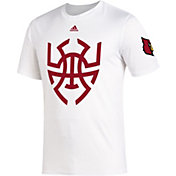 adidas Men's Louisville Cardinals Donovan Mitchell 'Spidaman' White T-Shirt