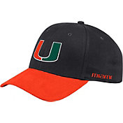 adidas Men's Miami Hurricanes Coach Structured Flex Sideline Black Hat