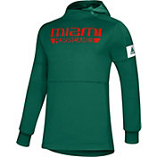 adidas Men's Miami Hurricanes Green Game Mode Sideline Pullover Hoodie