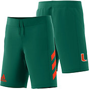 adidas Men's Miami Hurricanes Green Practice Basketball Shorts