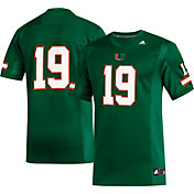 adidas Men's Miami Hurricanes #19 Green Replica Football Jersey