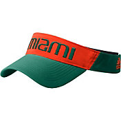 adidas Men's Miami Hurricanes Green Coach Thin Adjustable Visor