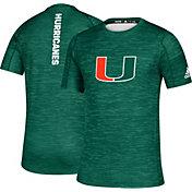 adidas Men's Miami Hurricanes Green Game Mode Training Sideline T-Shirt