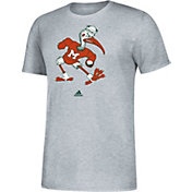 adidas Men's Miami Hurricanes Grey Vault Logo T-Shirt
