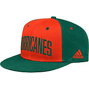 adidas Men's Miami Hurricanes Orange/Green Team Sideline Snapback Hat