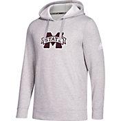 adidas Men's Mississippi State Bulldogs Grey Logo Fleece Pullover Hoodie