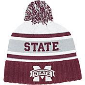 adidas Men's Mississippi State Bulldogs Maroon Cuffed Pom Knit Beanie