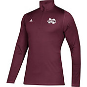 adidas Men's Mississippi State Bulldogs Maroon Sport Quarter-Zip Shirt