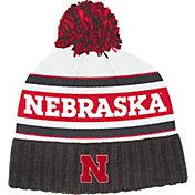 adidas Men's Nebraska Cornhuskers Cuffed Pom Knit Black Beanie