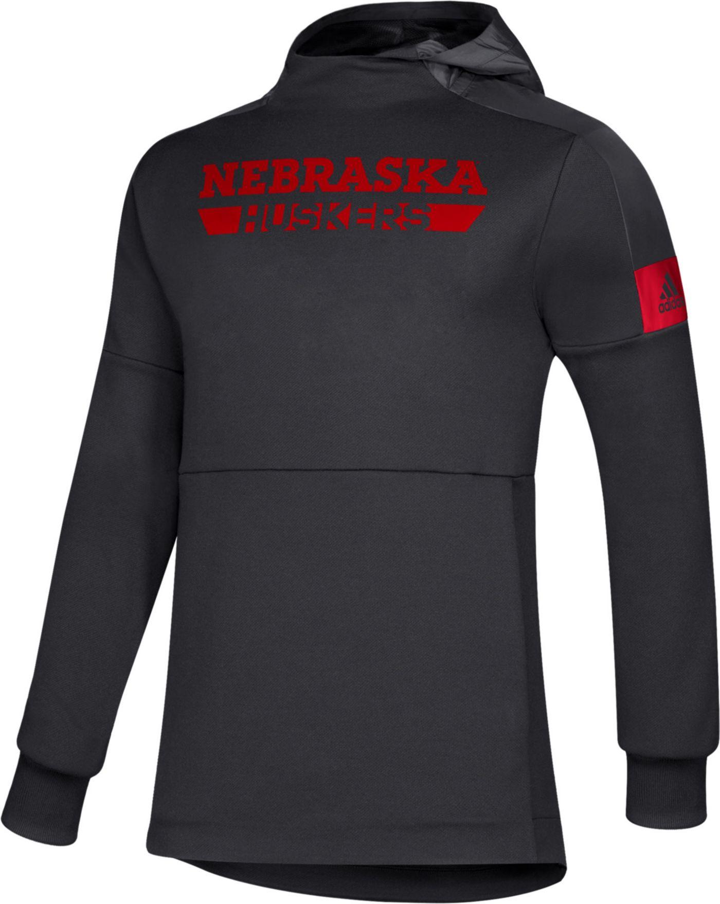 adidas Men's Nebraska Cornhuskers Scarlet Game Mode Sideline Pullover Hoodie