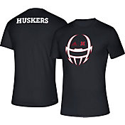 adidas Men's Nebraska Cornhuskers Tail Sweep Performance Black T-Shirt
