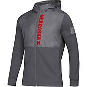 adidas Men's Nebraska Cornhuskers Grey Game Mode Sideline Full-Zip Jacket