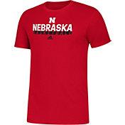 adidas Men's Nebraska Cornhuskers Scarlet Amplifier Basketball T-Shirt