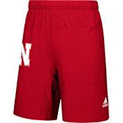 adidas Men's Nebraska Cornhuskers Scarlet Sideline Game Mode Woven Shorts