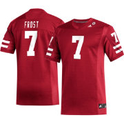 adidas Men's Scott Frost Nebraska Cornhuskers #7 Scarlet Replica Football Jersey