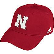 adidas Men's Nebraska Cornhuskers Scarlet Coach Slouch Sideline Hat