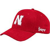 adidas Men's Nebraska Cornhuskers Scarlet Coach Structured Flex Sideline Hat