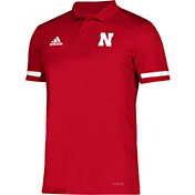 adidas Men's Nebraska Cornhuskers Scarlet Team 19 Sideline Football Polo