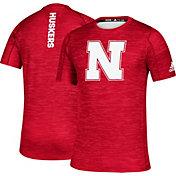 adidas Men's Nebraska Cornhuskers Scarlet Game Mode Training Sideline T-Shirt