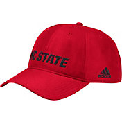 adidas Men's NC State Wolfpack Red Coach Slouch Adjustable Sideline Hat