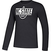adidas Men's NC State Wolfpack Amplifier Performance Basketball Black T-Shirt