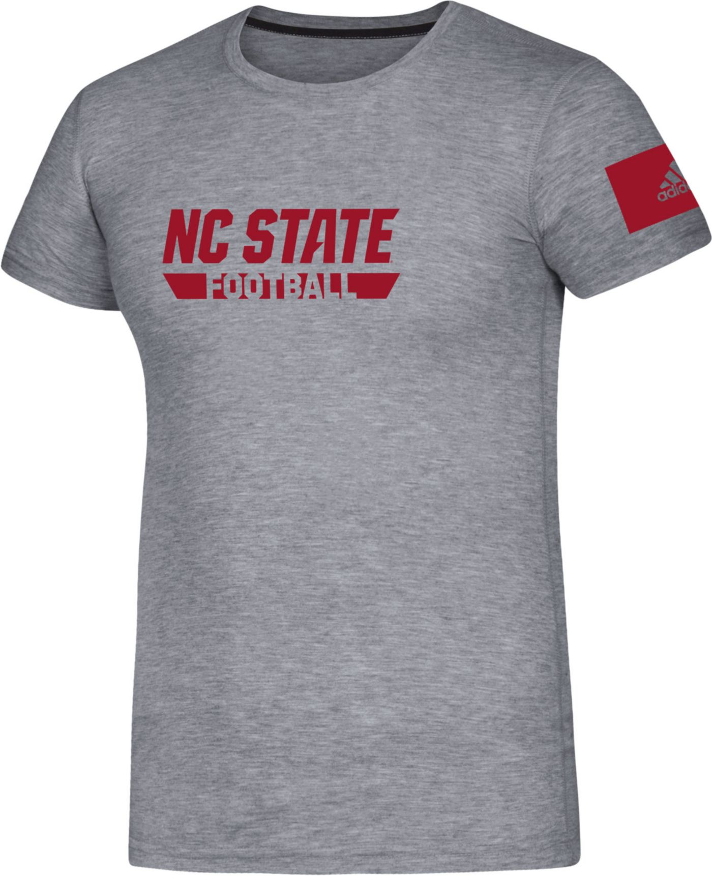 adidas Men's NC State Wolfpack Grey Locker Practice Football T-Shirt