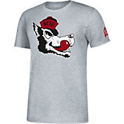 adidas Men's NC State Wolfpack Grey Vault Logo T-Shirt