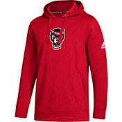 adidas Men's NC State Wolfpack Red Logo Fleece Pullover Hoodie