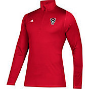 adidas Men's NC State Wolfpack Red Sport Quarter-Zip Shirt