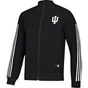 adidas Men's Indiana Hoosiers Stadium ID Knit Full-Zip Track Black Top