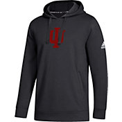 adidas Men's Indiana Hoosiers Logo Fleece Pullover Black Hoodie