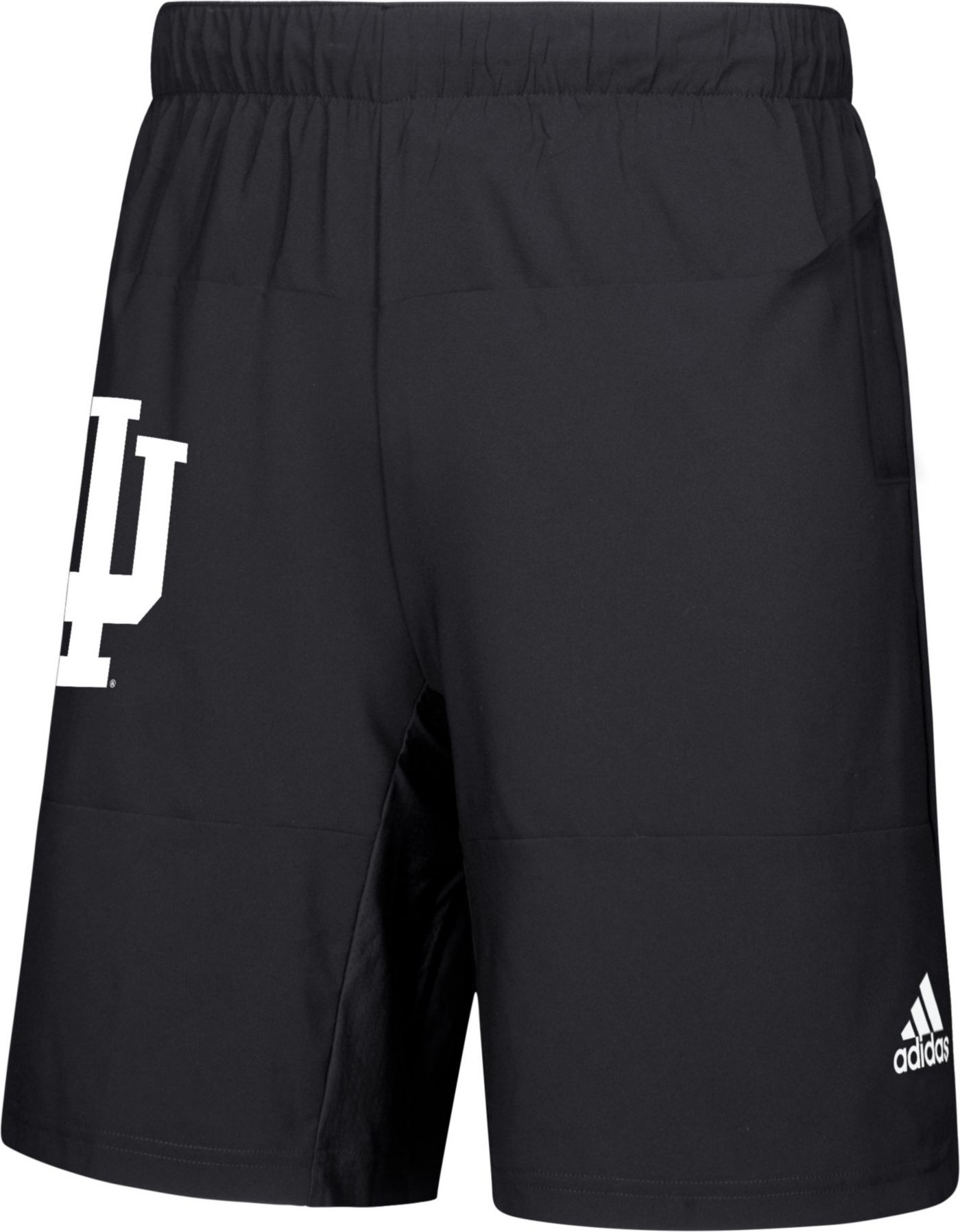 adidas Men's Indiana Hoosiers Sideline Game Mode Woven Black Shorts