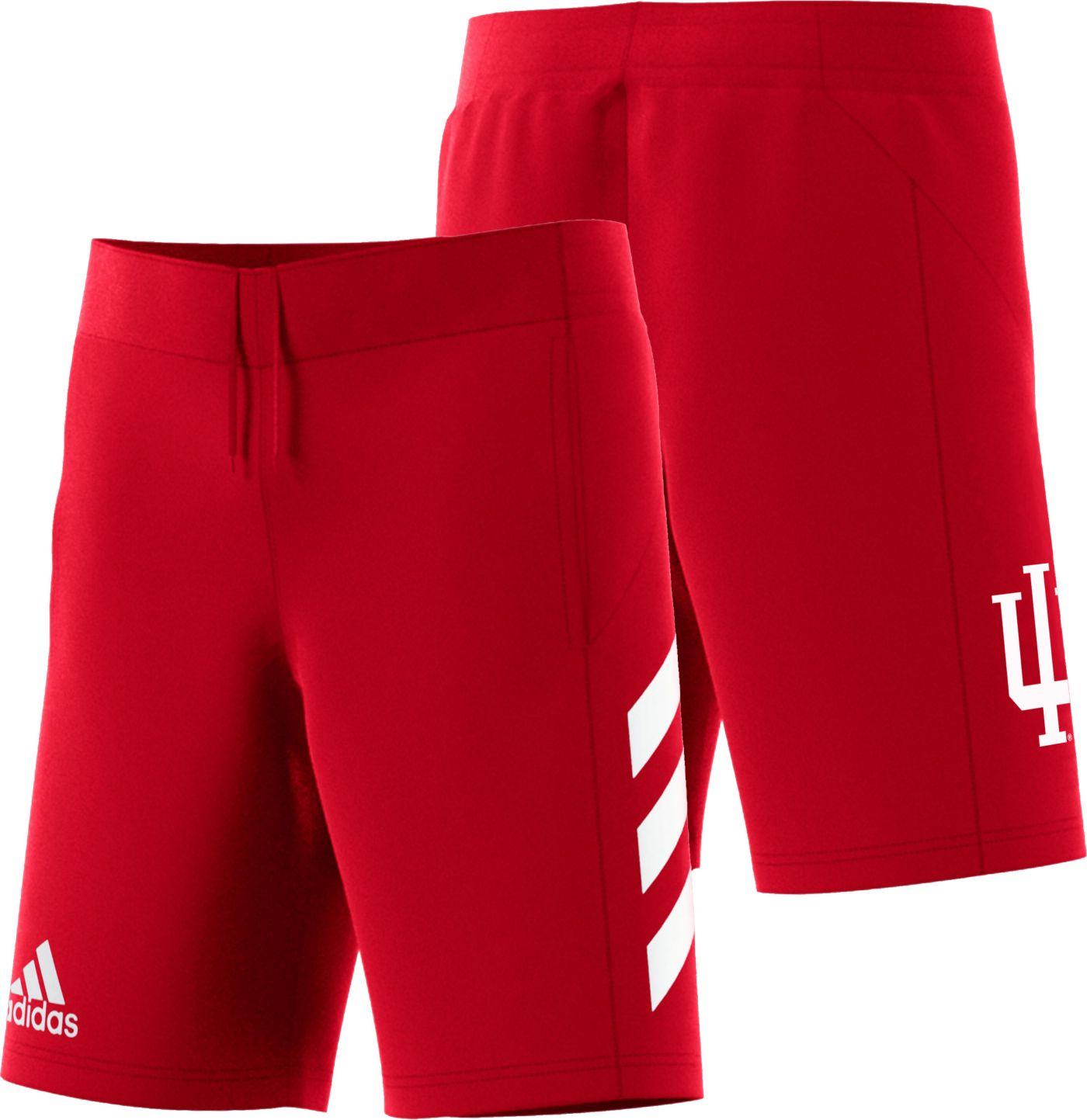 adidas Men's Indiana Hoosiers Crimson Practice Basketball Shorts