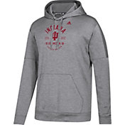 adidas Men's Indiana Hoosiers Grey Performance Hoodie