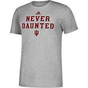 adidas Men's Indiana Hoosiers Grey Slogan T-Shirt