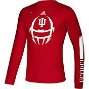 adidas Men's Indiana Hoosiers Crimson Locker Football Long Sleeve T-Shirt