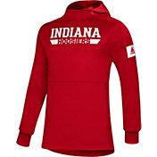 adidas Men's Indiana Hoosiers Crimson Game Mode Sideline Pullover Hoodie