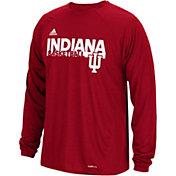 adidas Men's Indiana Hoosiers Crimson Performance Long Sleeve T-Shirt