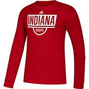 adidas Men's Indiana Hoosiers Crimson Amplifier Performance Basketball T-Shirt