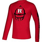 adidas Men's Rutgers Scarlet Knights Scarlet Locker Football Long Sleeve T-Shirt