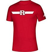 adidas Men's Rutgers Scarlet Knights Scarlet Locker Stripe Sideline T-Shirt