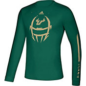 adidas Men's South Florida Bulls Green Locker Football Long Sleeve T-Shirt