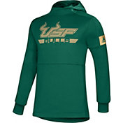 adidas Men's South Florida Bulls Green Game Mode Sideline Pullover Hoodie