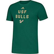adidas Men's South Florida Bulls Green Slogan T-Shirt