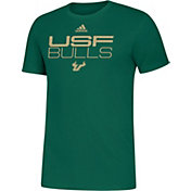 adidas Men's South Florida Bulls Green Sideline Locker Stacked T-Shirt