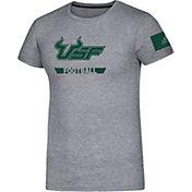 adidas Men's South Florida Bulls Grey Locker Practice Football T-Shirt