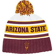 adidas Men's Arizona State Sun Devils Maroon Cuffed Pom Knit Beanie