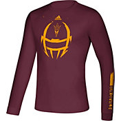 adidas Men's Arizona State Sun Devils Maroon Locker Football Long Sleeve T-Shirt