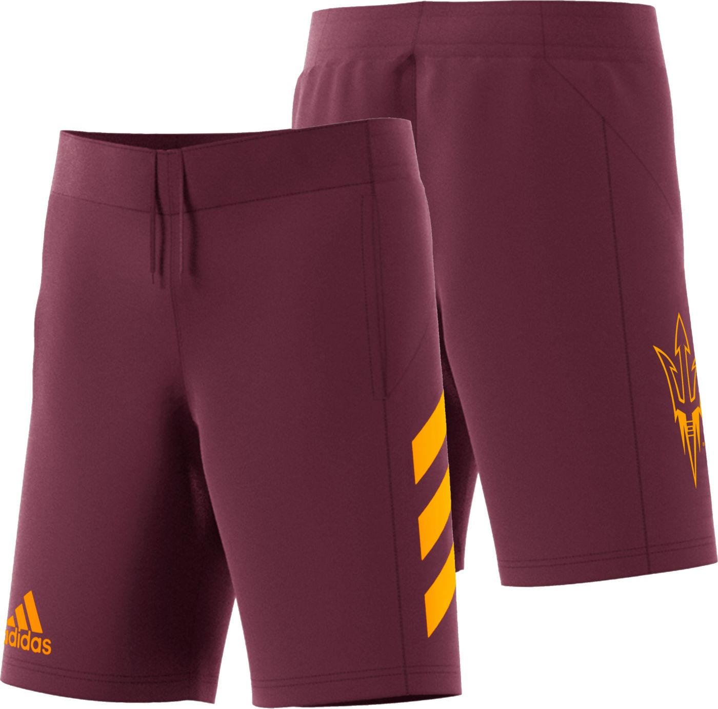 adidas Men's Arizona State Sun Devils Maroon Practice Basketball Shorts